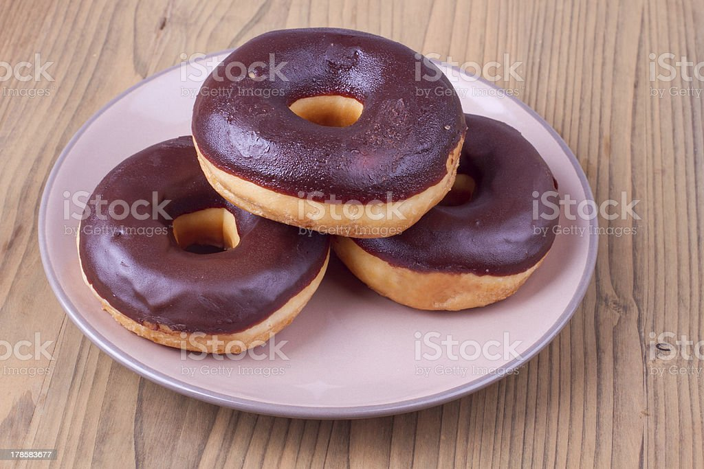 Traditional american donuts stock photo