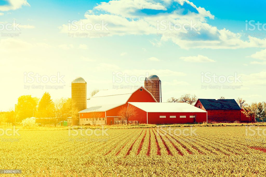 Traditional American Farm stock photo