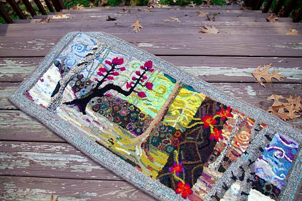 Traditional American Folk Art: Rug Hooking stock photo