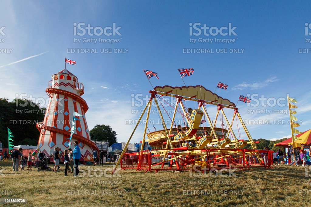 Traditional Amusement Park Rides - Boat Swing stock photo