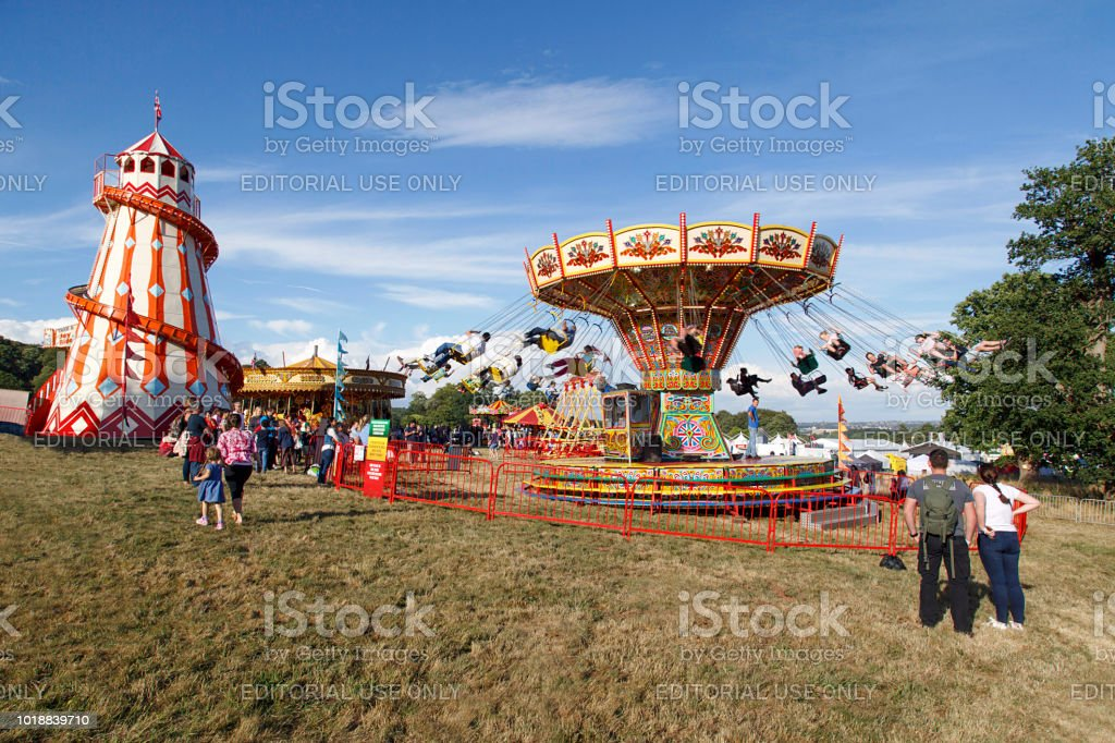 Traditional Amusement Park Rides - Carousel stock photo