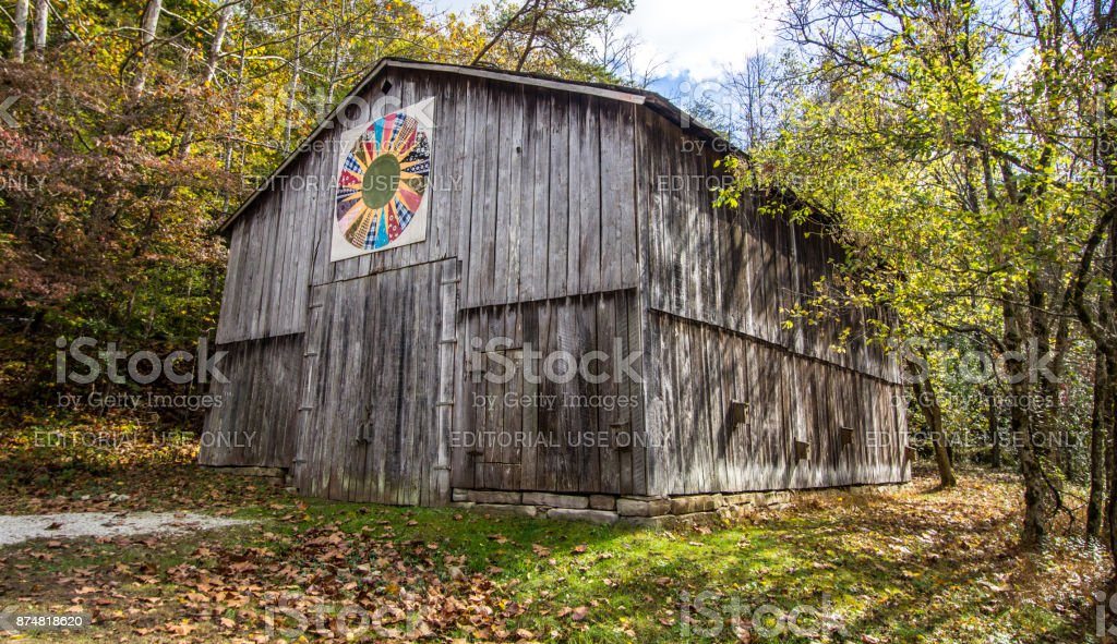 Traditional Apalachian Kentucky Quilt Barn stock photo