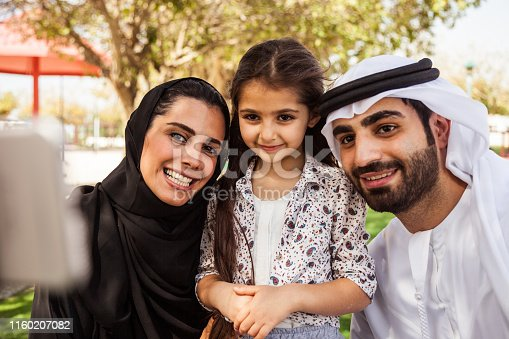 472869308 istock photo Traditional arab family in Dubai, UAE 1160207082