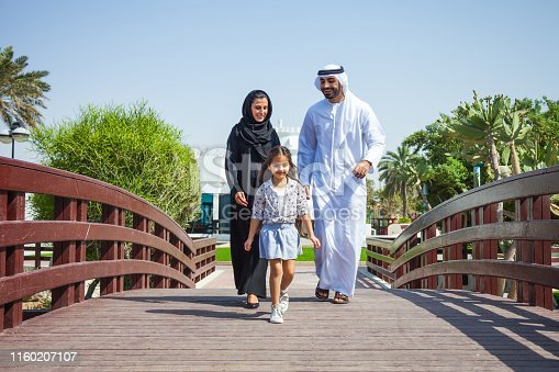 472869308 istock photo Traditional arab family in Dubai, UAE 1160207107