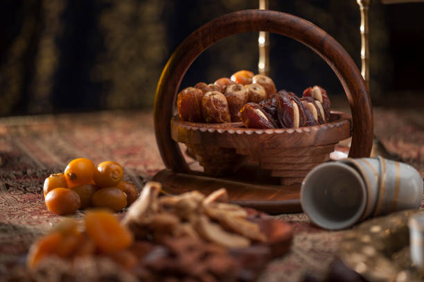 Traditional Arabian coffee, nuts and sweets
