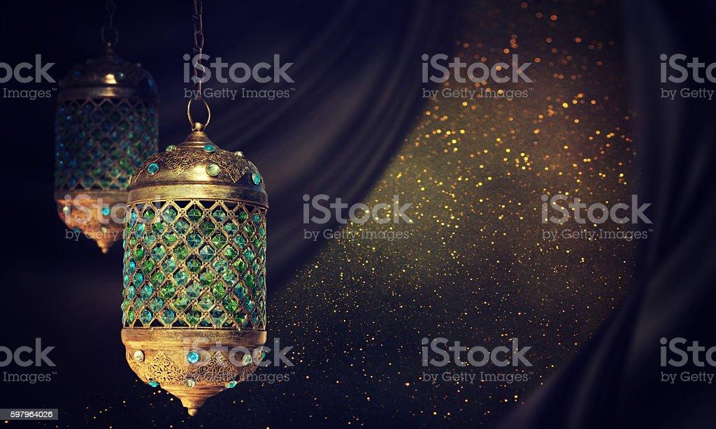 Traditional arabic lantern - Photo