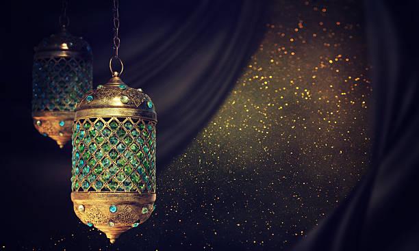 traditional arabic lantern - eid mubarak stock photos and pictures