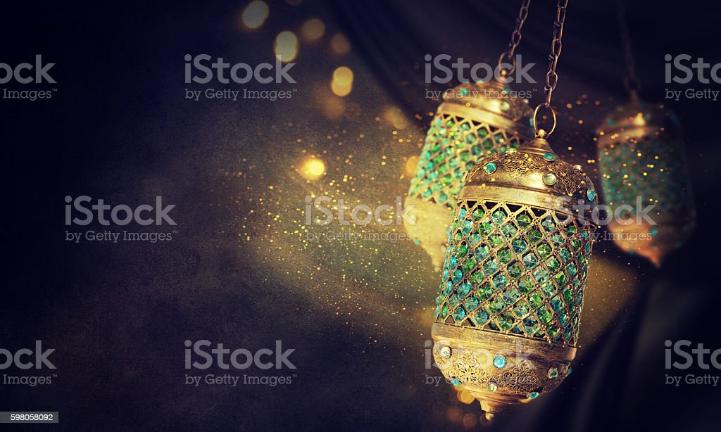 Traditional arabic lantern - foto de stock