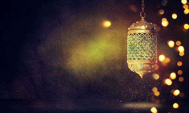 traditional arabic lantern - eid stock pictures, royalty-free photos & images