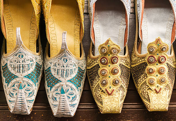 Traditional Arabic Sandals stock photo