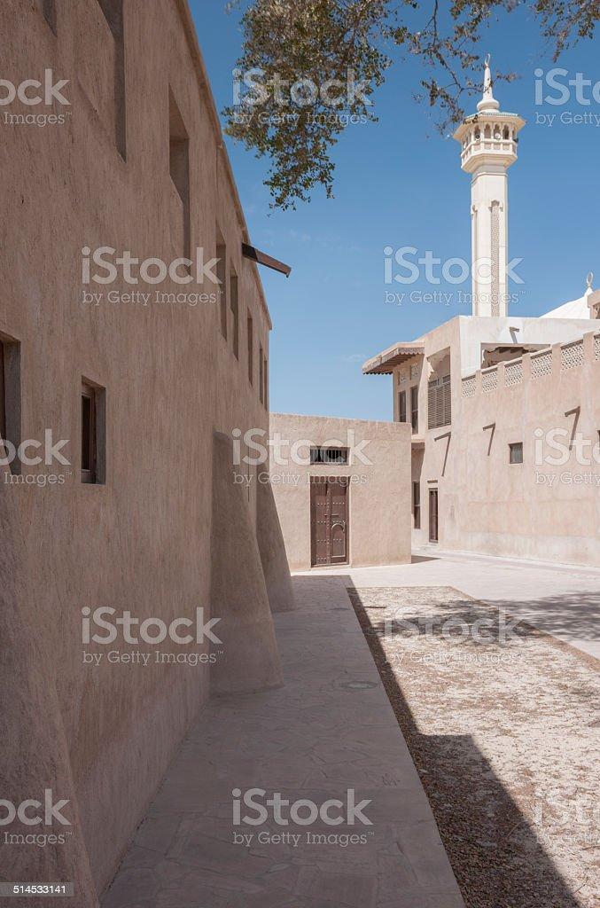 Traditional Architecture In Bastakia, Dubai, UAE stock photo