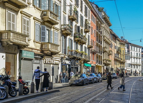 Traditional architecture in Milan