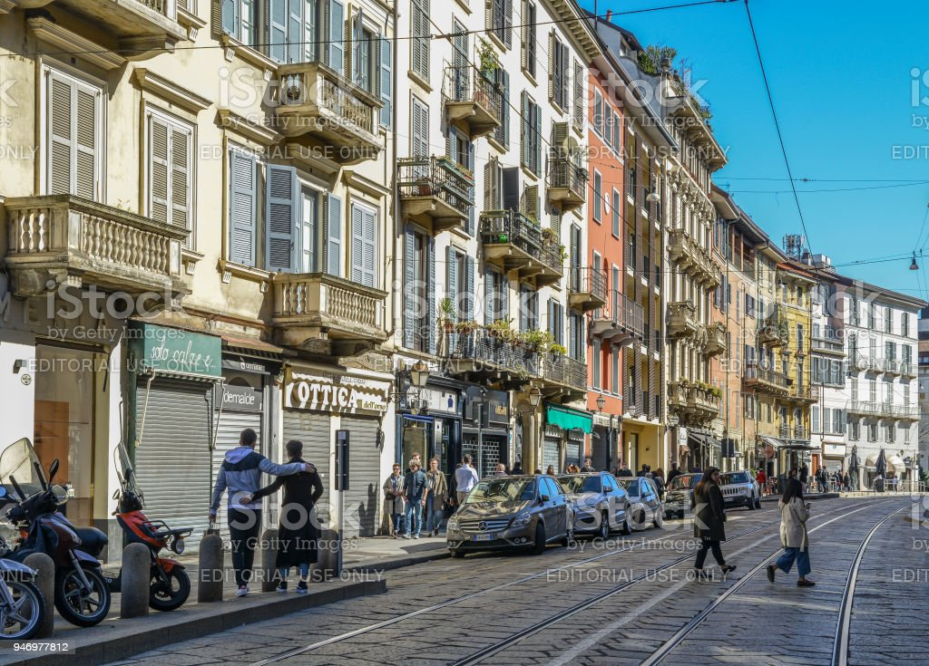 Traditional architecture in Milan - foto stock