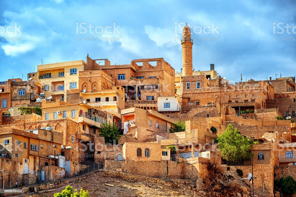 Traditional architecture in the old town of Mardin, Turkey royalty-free stock photo