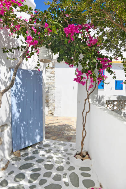 traditional architecture of Cyclades islands Greece - Ano Koufonisi island Greece stock photo
