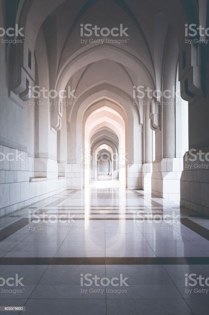 traditional archway in muscat, oman stock photo