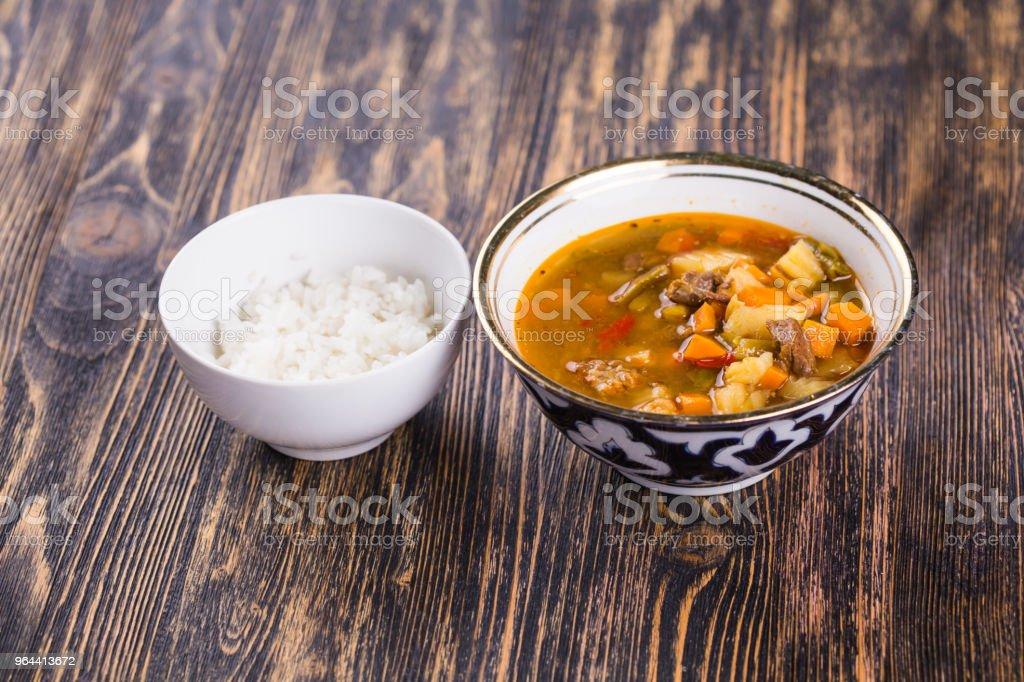 Tradicional macarrão asiático Laytynher - Foto de stock de Alho royalty-free