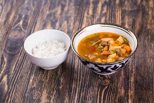 Foto de Tradicional Macarrão Asiático Laytynher e mais fotos de stock de Alho