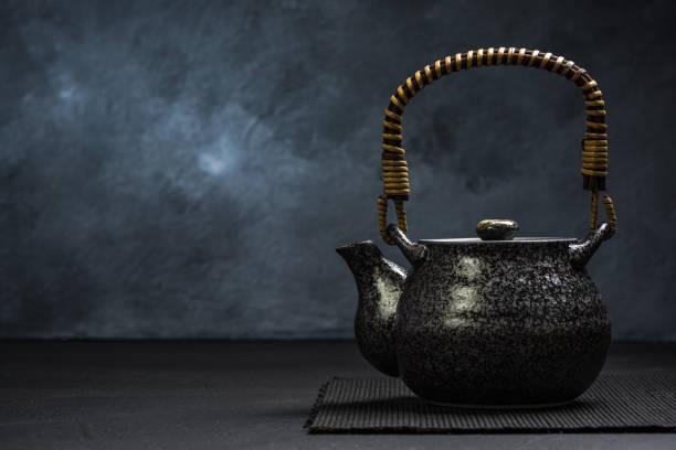 Traditional Asian or Japan Tea Tea Pot stock photo