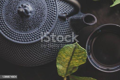 istock Traditional Asian Tea Ritual at Home 1289874924