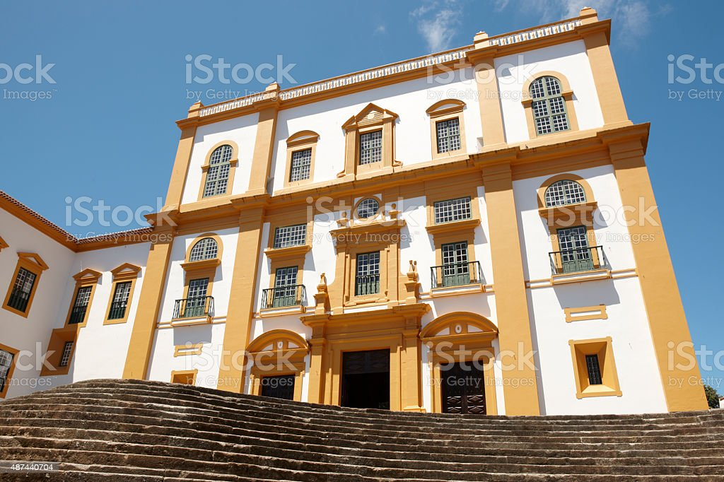 Traditional Azores facade. Palace General Captain. Angra. Tercei stock photo