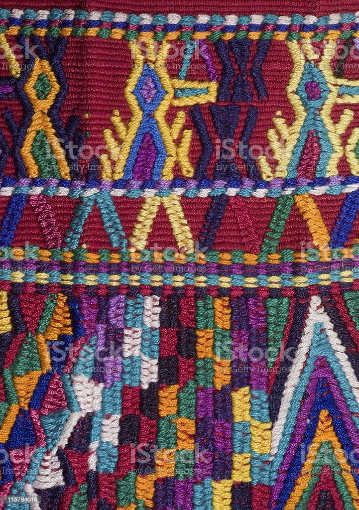 Traditional  Backstrap woven sash Chajul Guatemala stock photo