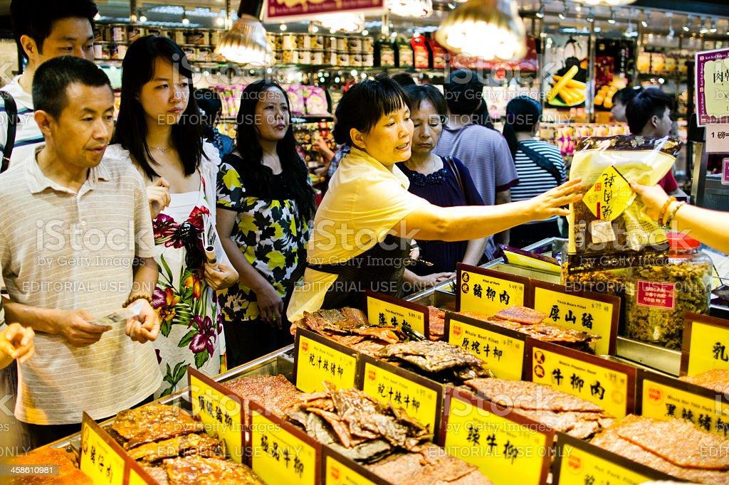 Traditional Bakkwa Macau China stock photo