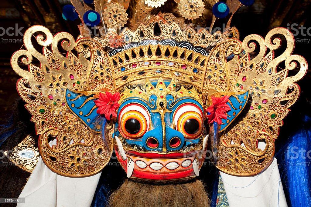 Traditional Balinese Barong Mask royalty-free stock photo