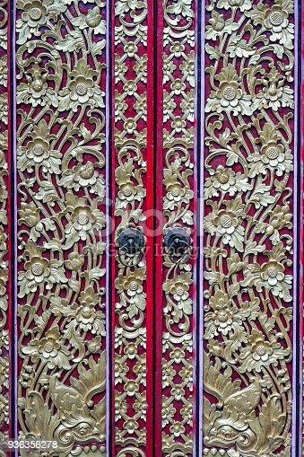 istock Traditional Balinese Door Decoration 936356278
