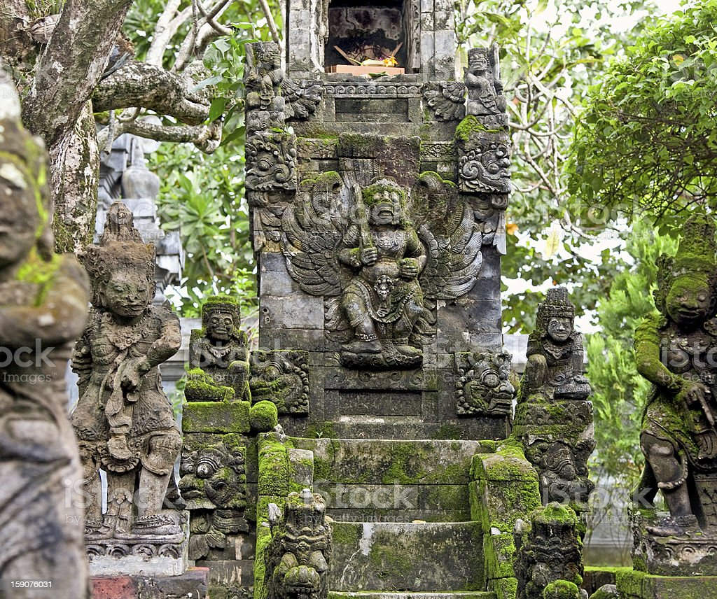 Traditional balinese dragon monster secure the of temple, Bali royalty-free stock photo