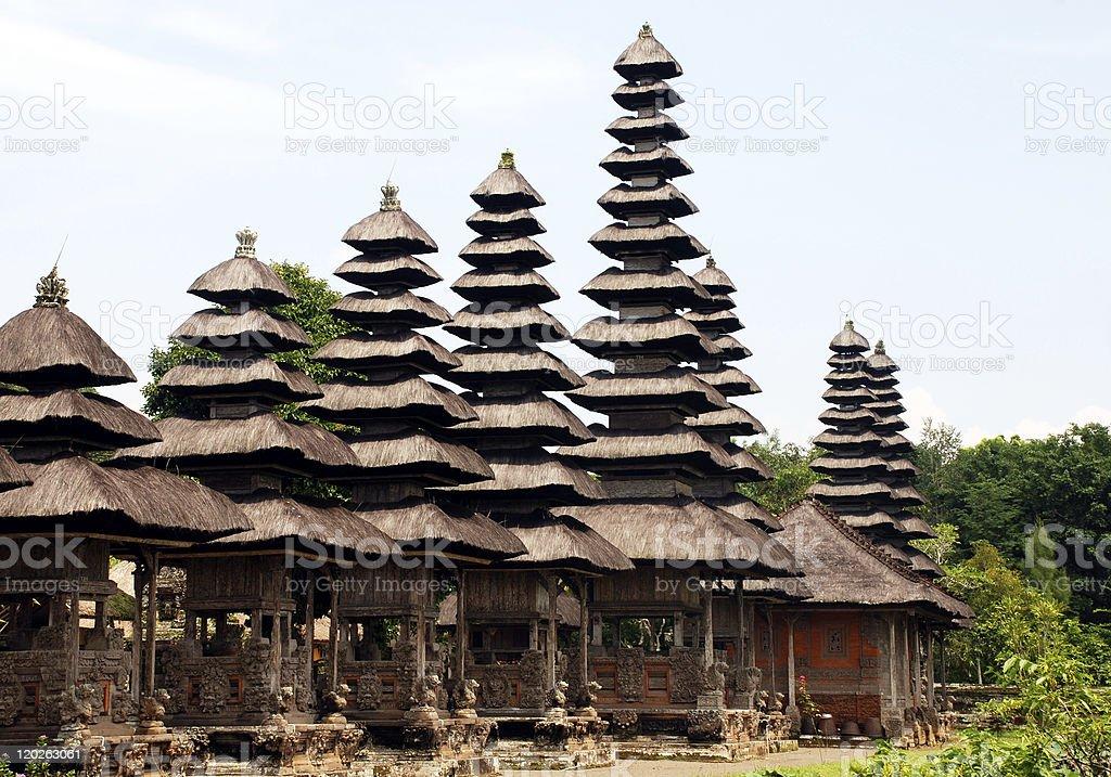 Traditional balinese  hindu Temple (Bali, Indonesia) royalty-free stock photo