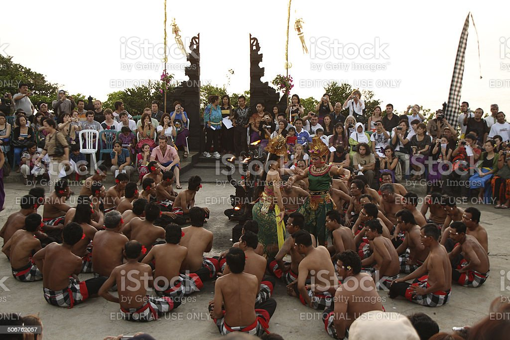 Traditional Balinese Kecak dance stock photo