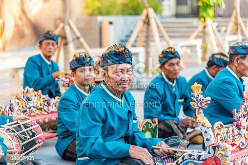Traditional Balinese Musicians Performing at GWK (Garuda Wisnu Kencana) Cultural Park, Bali Indonesia - 10/30/2018
