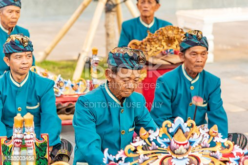 Traditional Balinese Musicians Performing at GWK (Garuda Wisnu Kencana) Cultural Park, Bali Indonesia - 10/30/2018