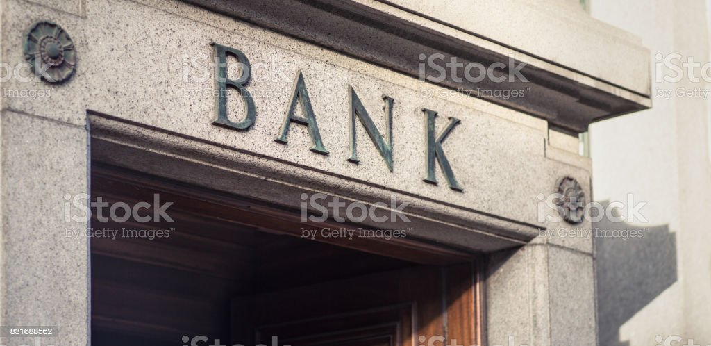 Traditionelle Bank Zeichen – Foto