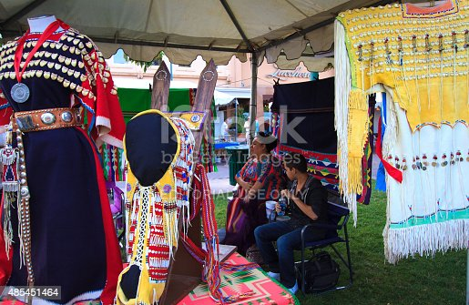 istock Traditional Beaded Costumes, 94th (2015) Annual Santa Fe Indian Market 485451464