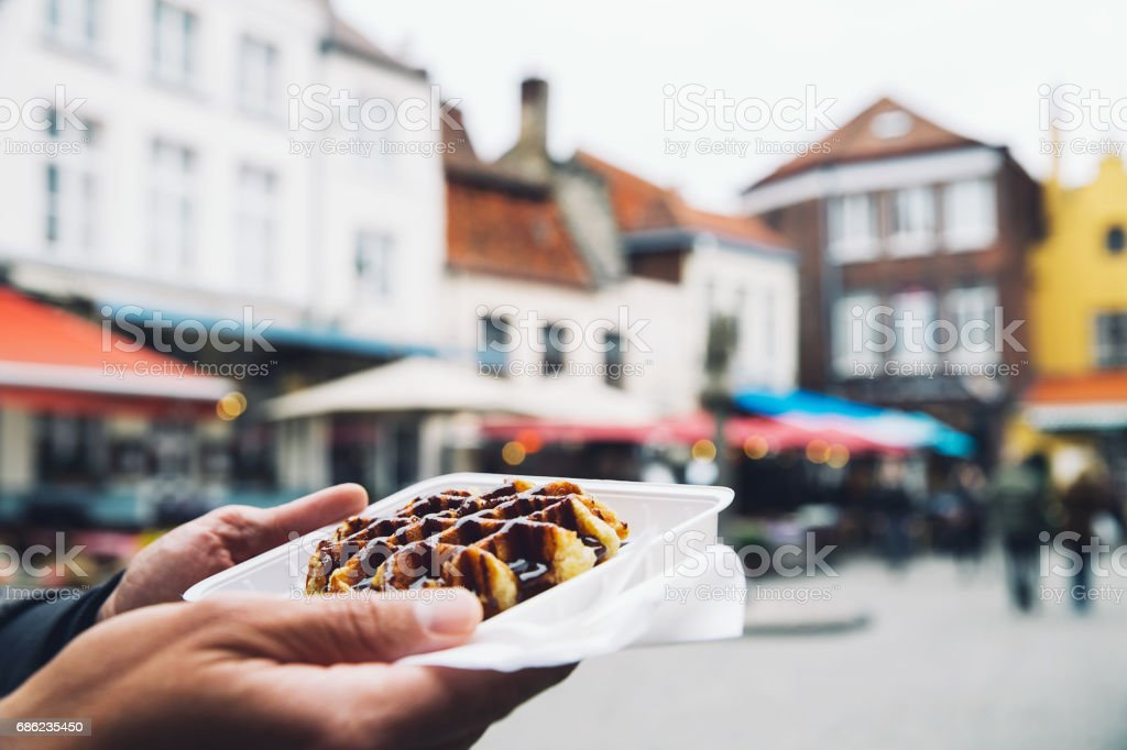 Traditional Belgian dessert, pastry. - Photo