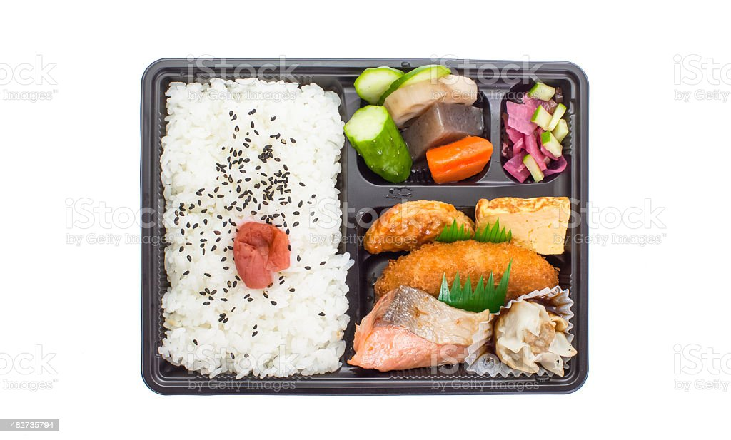 Traditional bento japanese cuisine stock photo