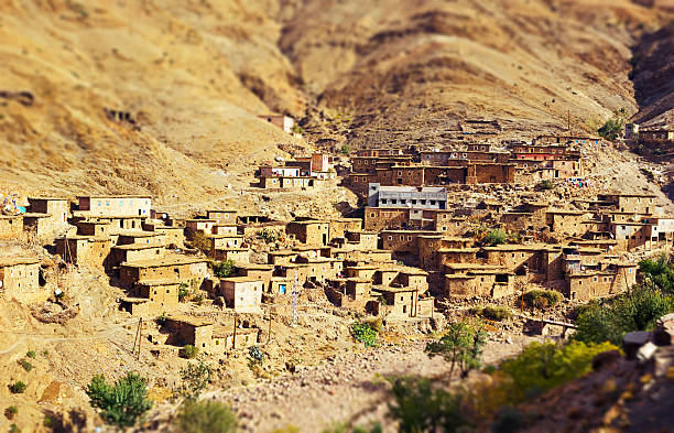 Tradycyjne Berberowie górskiej wiosce w południowej Maroko – zdjęcie