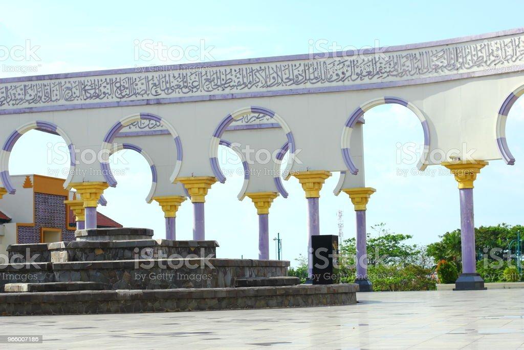 Traditionella stora moskén på Semarang Indonesia - Royaltyfri Fotografi - Bild Bildbanksbilder