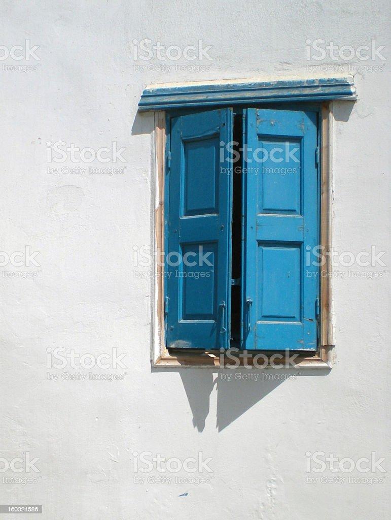 Traditional Blue Window stock photo