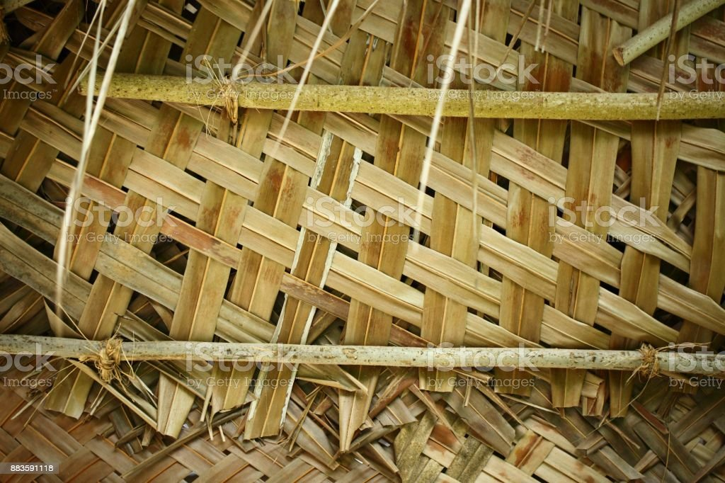 Traditional braided Palm leaf stock photo