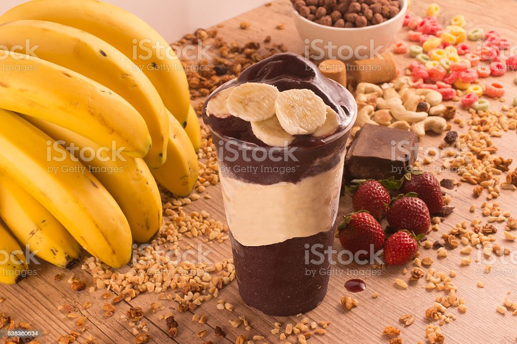 Traditional Brazilian Acai stock photo