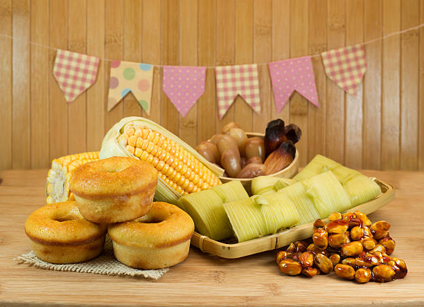 Traditional Brazilian food for June Feast stock photo