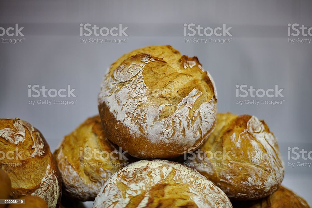 Traditional bread close up stock photo