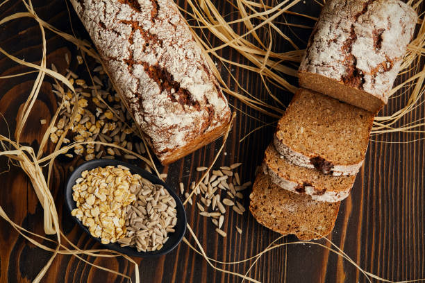 Traditional bread Traditional bread oat crop stock pictures, royalty-free photos & images