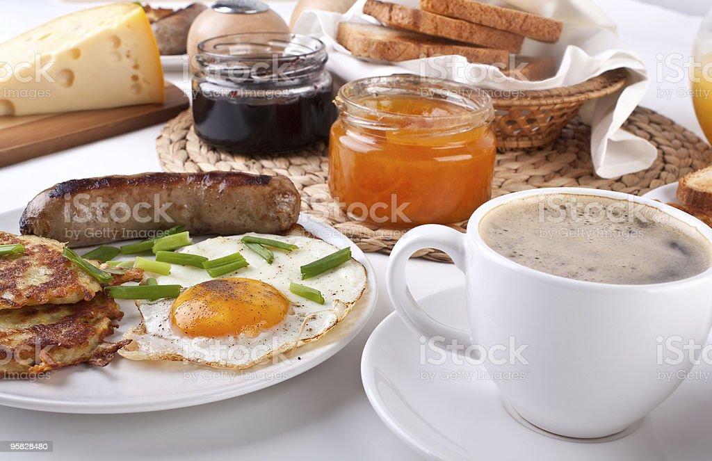 traditional  breakfast royalty-free stock photo