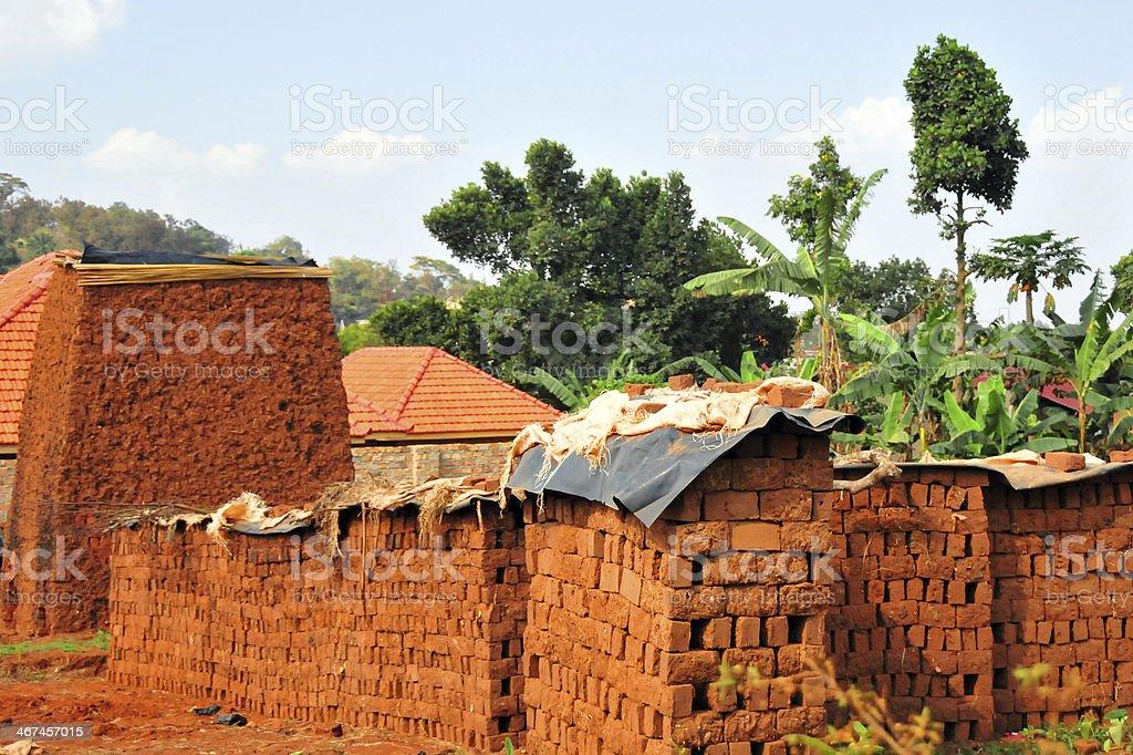 Traditional brick making royalty-free stock photo