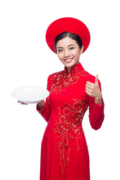 traditional bride - ao dai stock photos and pictures