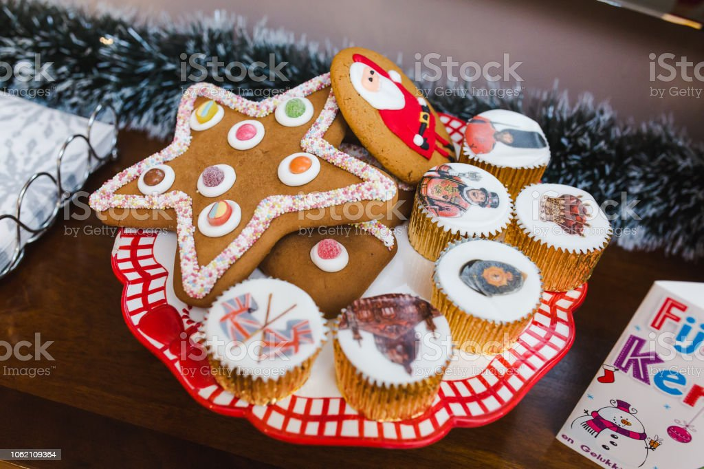 Traditional British Christmas Cookies And Sweets Stock Photo